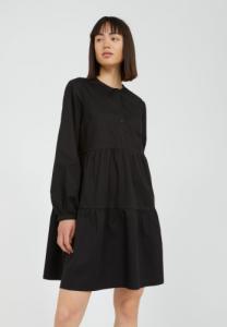 Robe fluide noire en coton bio - kobenhaavn - Armedangels