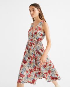 Robe midi fleurie en lenzing ecovero - amapola - Thinking Mu