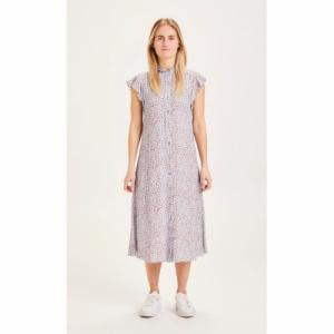 Robe midi à imprimé fleuri en lenzing - fleur - Knowledge Cotton Apparel