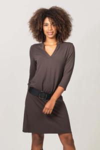 Robe courte tania marron - Thelma Rose