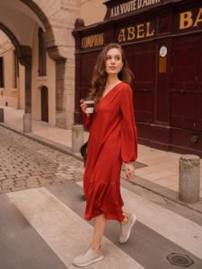 Robe couleur brique - Maison Alfa