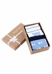 Pack de trois paires de chaussettes à motifs bleus en coton bio - People Tree