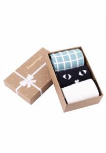 Pack de trois paires de chaussettes à motifs verts en coton bio - People Tree