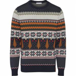 Pull à motifs en coton bio - xmas knit - Knowledge Cotton Apparel