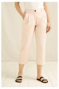 Pantalon cigarette rose en coton bio - anwen - People Tree