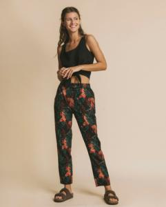 Pantalon droit imprimé en coton bio - ella - Thinking Mu