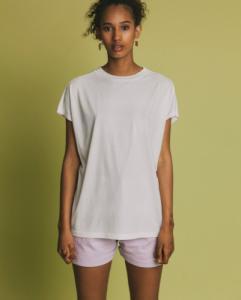 T-shirt blanc en coton bio - volta - Thinking Mu