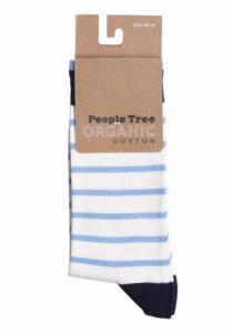 Chaussettes rayées en coton bio - People Tree