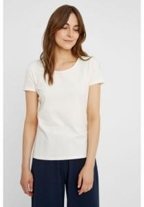 T-shirt col rond blanc en coton bio - gaia - People Tree