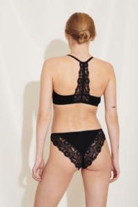Culotte en dentelle noire en tencel et polyester recyclé - mia - Underprotection