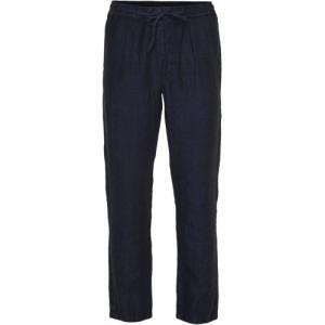 Pantalon ample bleu nuit en lin - birch - Knowledge Cotton Apparel