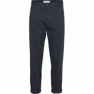 Chino ample bleu nuit en coton bio - bob - Knowledge Cotton Apparel