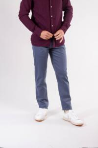Chino slim indigo en coton bio - joe - Knowledge Cotton Apparel