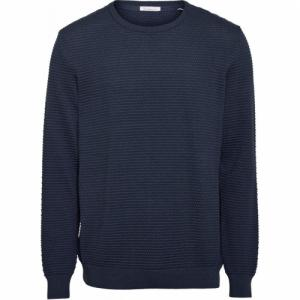 Pull bleu nuit en coton bio - field - Knowledge Cotton Apparel