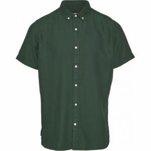 Chemise à manches courtes vert forêt en tencel et coton bio - larch - Knowledge Cotton Apparel