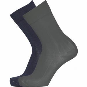 Pack 2 paires de chaussettes vert forêt et bleu nuit en coton bio - timber - Knowledge Cotton Apparel