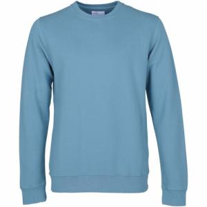 Sweat bleu en coton bio - stone blue - Colorful Standard
