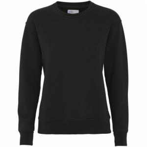 Sweat noir en coton bio - deep black - Colorful Standard