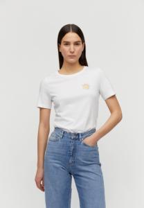 T-shirt imprimé blanc en coton bio - lidaa small elements - Armedangels