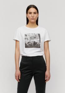 T-shirt imprimé blanc en coton bio - naalin now - Armedangels