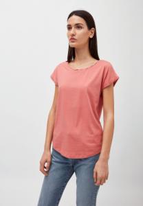 T-shirt uni rose pâle en coton bio - laale - Armedangels