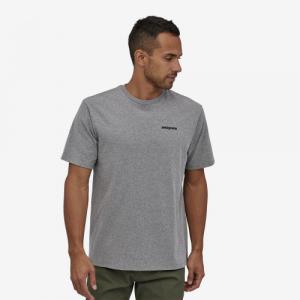 T-shirt imprimé gris en coton et polyester recyclé - p6 responsibili-tee - Patagonia