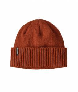 Bonnet orange en laine et nylon recyclé - brodeo beanie - Patagonia