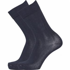 Pack 2 paires de chaussettes bleu nuit en coton bio - timber - Knowledge Cotton Apparel