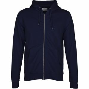 Sweat à capuche zippé marine en coton bio - navy blue - Colorful Standard