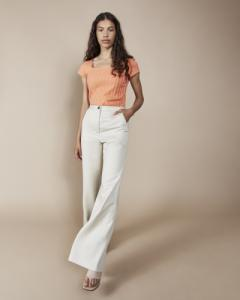 Pantalon large écru en tencel - arouca - Jan'n June