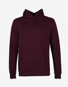 Sweat à capuche bordeaux en coton bio - oxblood red - Colorful Standard