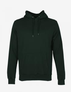 Sweat à capuche vert foncé en coton bio - hunter green - Colorful Standard