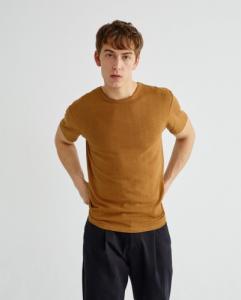 T-shirt camel en chanvre et coton bio - mo2 - Thinking Mu