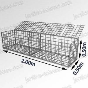 Gabion - cage métallique L.200cm