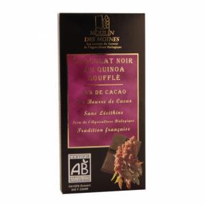 Chocolat noir au quinoa soufflé