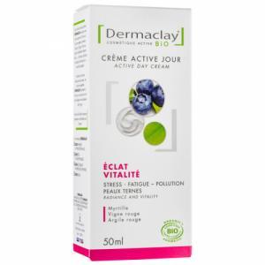 Crème de jour Bio Eclat Vitalité Teint terne Dermaclay 50ml