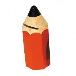 Tirelire en bois Crayon rouge