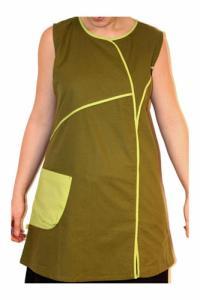 Tunique ethnique verte bicolor big pocket