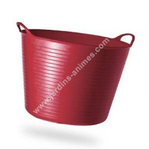 Baquet coloré RECYCLE rouge terre cuite 26L
