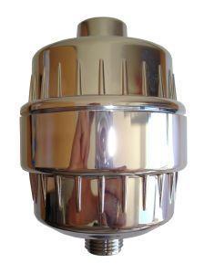 Filtre Douche SPRITE métal chromé avec cartouche au CHLORGON KDF