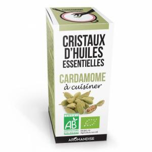 Cristaux d'huiles essentielles Cardamome bio 20g