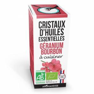 Cristaux d'huiles essentielles Géranium Bourbon bio 20g