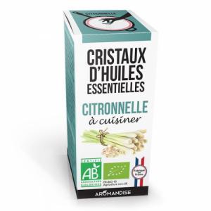 Cristaux d'huiles essentielles Citronnelle bio 20g
